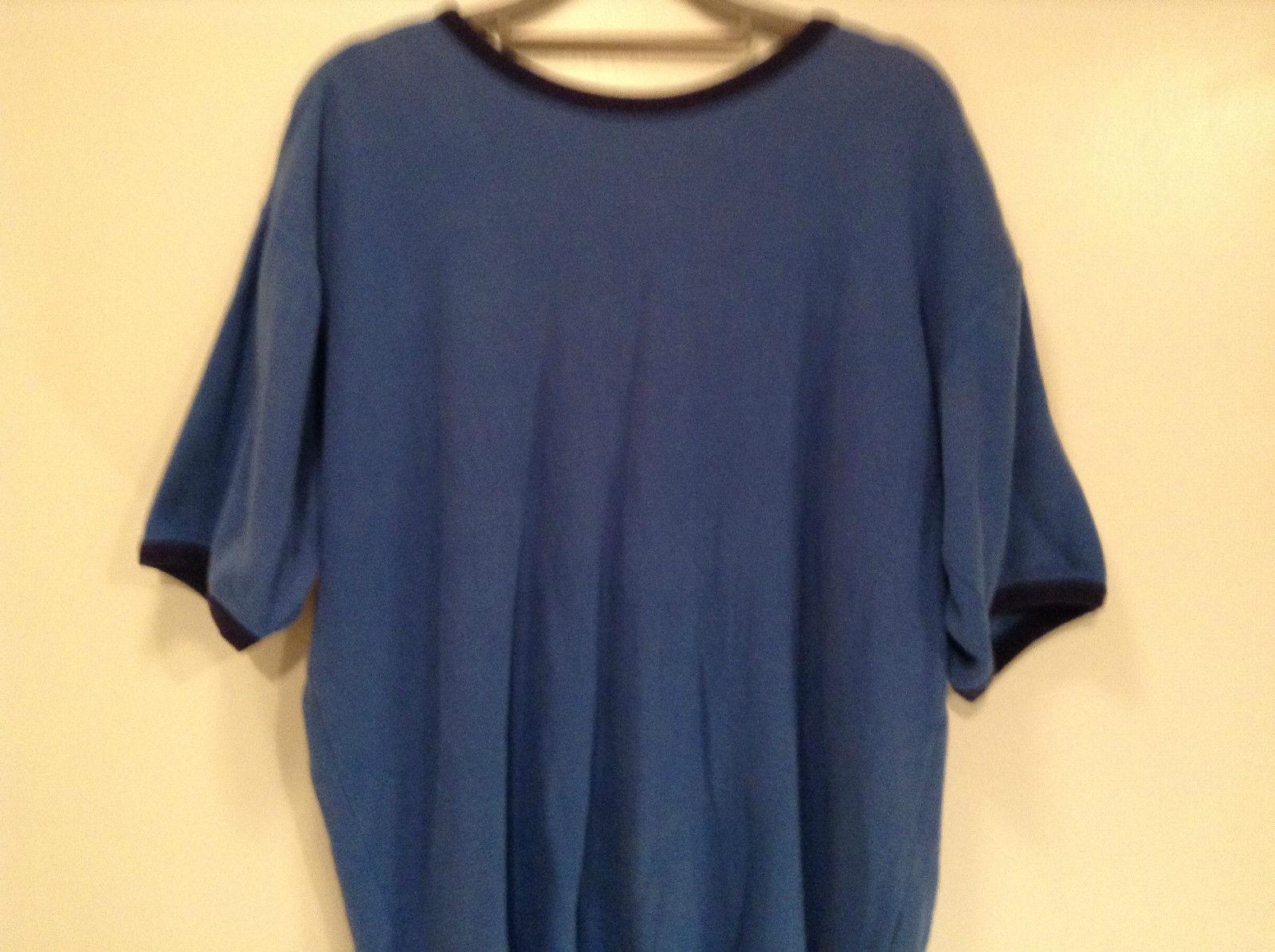 Northwest Territory Blue Short Sleeve Shirt Size Medium 100 Percent Cotton