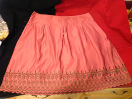 Old Navy Womens Low Rise Waist Pink Skirt with Embroidered Edge Pattern size 16 image 4