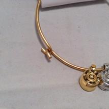 Lizzy J bullet charm bracelet, shiny gold silver vintage gold and silver image 5