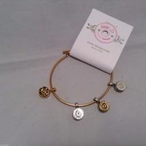 Lizzy J bullet charm bracelet, shiny gold silver vintage gold and silver image 7