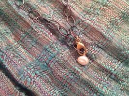 Long Multi Oval Necklace Gold w Black Oxide Silver Chain Handmade Zina Kao image 8