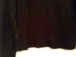 Long Sleeve Black Turtleneck Top Easel Size M Interesting Details on Elbows image 3