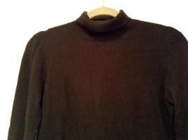 Long Sleeve Black Turtleneck Top Easel Size M Interesting Details on Elbows image 2