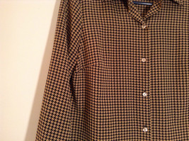 Long Sleeve Brown Black Pattern Size 8 Button Up Front Shirt Liz Claiborne image 3