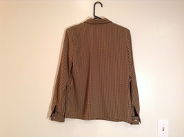 Long Sleeve Brown Black Pattern Size 8 Button Up Front Shirt Liz Claiborne image 5