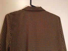 Long Sleeve Brown Black Pattern Size 8 Button Up Front Shirt Liz Claiborne image 6