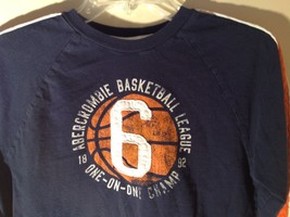 Long Sleeve Dark Blue Basketball Shirt Logo  Abercrombie image 2