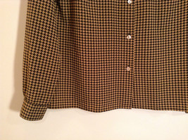 Long Sleeve Brown Black Pattern Size 8 Button Up Front Shirt Liz Claiborne image 4