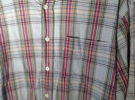 Long Sleeve Button Up Collared DOCKERS Shirt Plaid Red Green Yellow Blue Size M image 5