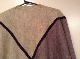Long Sleeve Gray Sweater Natural Leather Decorations Leena Lehtinen No Size Tag image 6