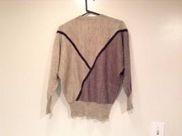 Long Sleeve Gray Sweater Natural Leather Decorations Leena Lehtinen No Size Tag image 5