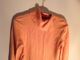 Long Sleeve Peachy Orange Color Sweater Turtleneck Collar from A Line Size Small image 3
