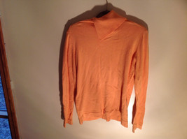 Long Sleeve Peachy Orange Color Sweater Turtleneck Collar from A Line Size Small image 4