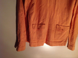 Long Sleeve Peachy Orange Color Sweater Turtleneck Collar from A Line Size Small image 2