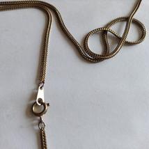 Lot of 2 Gold Tone Vintage Snake necklaces image 8