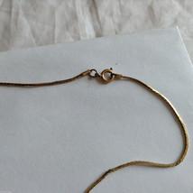 Lot of 2 Gold Tone Vintage Snake necklaces image 6