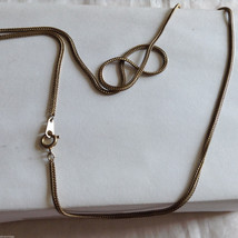 Lot of 2 Gold Tone Vintage Snake necklaces image 7