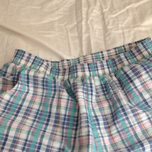 Lori of California Plaid Casual Pants White Blue Green Pink Elastic Waistband image 4
