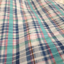 Lori of California Plaid Casual Pants White Blue Green Pink Elastic Waistband image 6