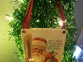 """""""Only Days to Go And Santa is Watching"""" Christmas Countdown Hanging Wall Decor image 2"""