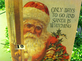 """""""Only Days to Go And Santa is Watching"""" Christmas Countdown Hanging Wall Decor image 3"""