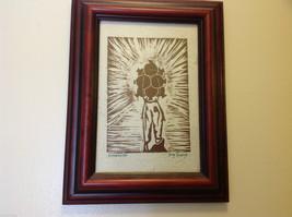 Original Guatemalan wood block print signed Country Laborer Amanecar image 4