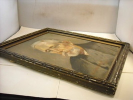 Original Oil Painting by Charles W Quicksell 1933 Portrait of Old Man image 4
