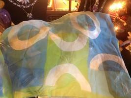 Lot of 6 gauzes greens blues teal aqua transparent translucent scarves vintage image 5