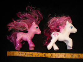 Lot of 6 My Little Pony Dolls white pink green image 2