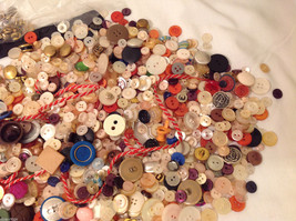 Lot of Different kind of buttons and materials for sewing and crafting image 4