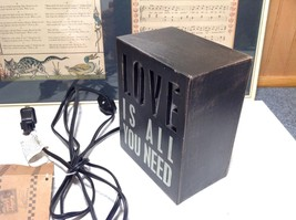Love Is All You Need Light Box Night Light Black LOVE Lights Up New with Tag image 2