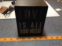 Love Is All You Need Light Box Night Light Black LOVE Lights Up New with Tag image 5
