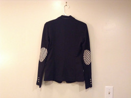 Love Tree Black with Black White Stripes Blazer Jacket Front Pockets Size M image 2