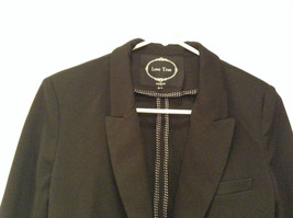 Love Tree Black with Black White Stripes Blazer Jacket Front Pockets Size M image 3