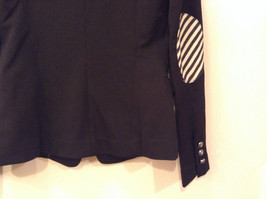Love Tree Black with Black White Stripes Blazer Jacket Front Pockets Size M image 7