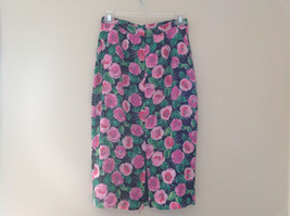 Lovely Black Pink Flowered Silk Matching Top and Skirt Set NO NAME TAG Size 6 image 9
