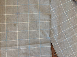 Lovely Heather Gray Plaid Fringe Scarf 58 Inches Long image 5