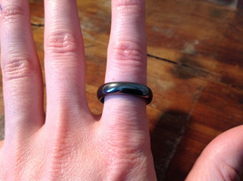 Lovely Hematite Natural Stone Ring Sizes 7.5 and 8.5 image 2