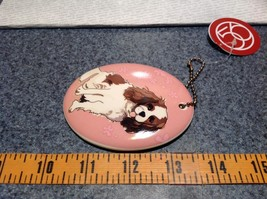 Oval Ceramic Cavalier Dog Pink Background Ornament with Metal Chain Department56 image 4