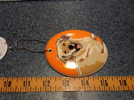 Oval Ceramic Golden Retriever Dog Ornament w Metal Chain Department 56 image 3