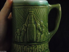 Pair of green vintage Beer Stein Mug from Germany image 3
