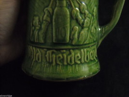 Pair of green vintage Beer Stein Mug from Germany image 2