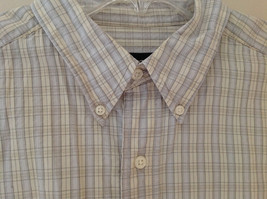 Pale Blue Pale Green Checkered Patterned Short Sleeve Shirt Eddie Bauer Size L image 4