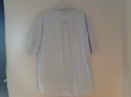 Pale Blue Pale Green Checkered Patterned Short Sleeve Shirt Eddie Bauer Size L image 6
