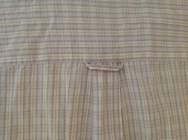 Pale Blue Pale Green Checkered Patterned Short Sleeve Shirt Eddie Bauer Size L image 5