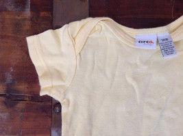 Pale Yellow Infant One pc w Snaps Short Sleeves Circo Baby Size 3 to 6 Months image 2