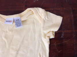 Pale Yellow Infant One pc w Snaps Short Sleeves Circo Baby Size 3 to 6 Months image 3