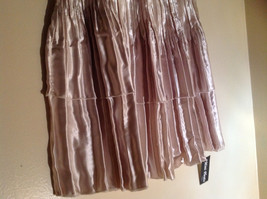 Pale Pink Calf Length Pleated Skirt Shiny Material by Magic Scarf Co. image 3