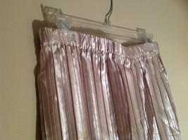 Pale Pink Calf Length Pleated Skirt Shiny Material by Magic Scarf Co. image 4