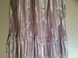 Pale Pink Calf Length Pleated Skirt Shiny Material by Magic Scarf Co. image 5